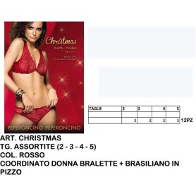 Completino intimo rosso donnaART CHRISTMAS